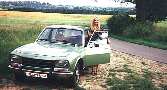 Karen with my 1977 Peugeot 504 L